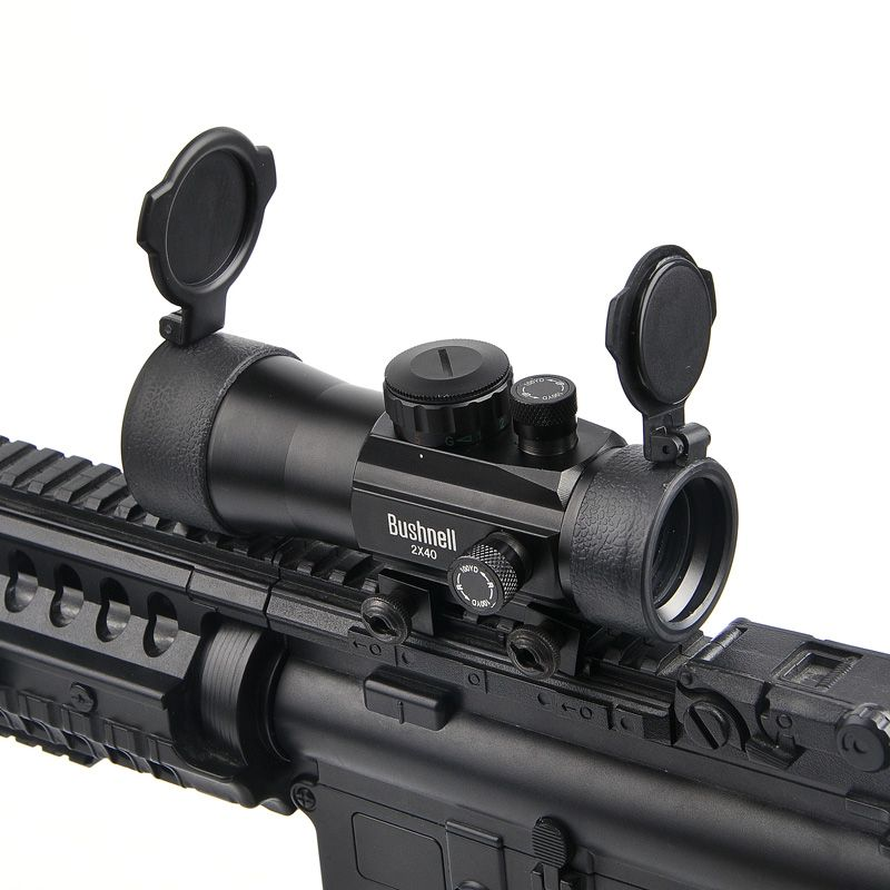 BUSHNELL 2x40 Green Red Dot Sight Scope Tactical Optics Riflescope Fit Picatinny Rail Mount 20mm Rifle Scopes for Hunting