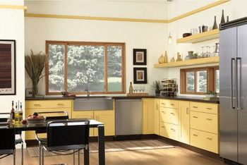 2017 hot sales 2PAC kitchen cabinets yellow colour modern high gloss lacquer kitchen furnitures pantry L1606073