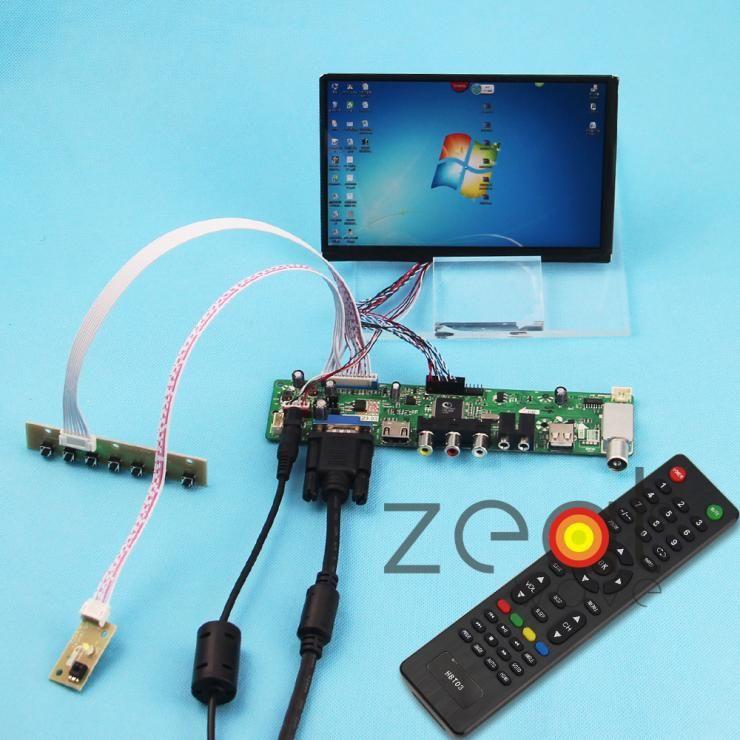 TV/HDMI/VGA/AV/USB/AUDIO Controller Board Card+7