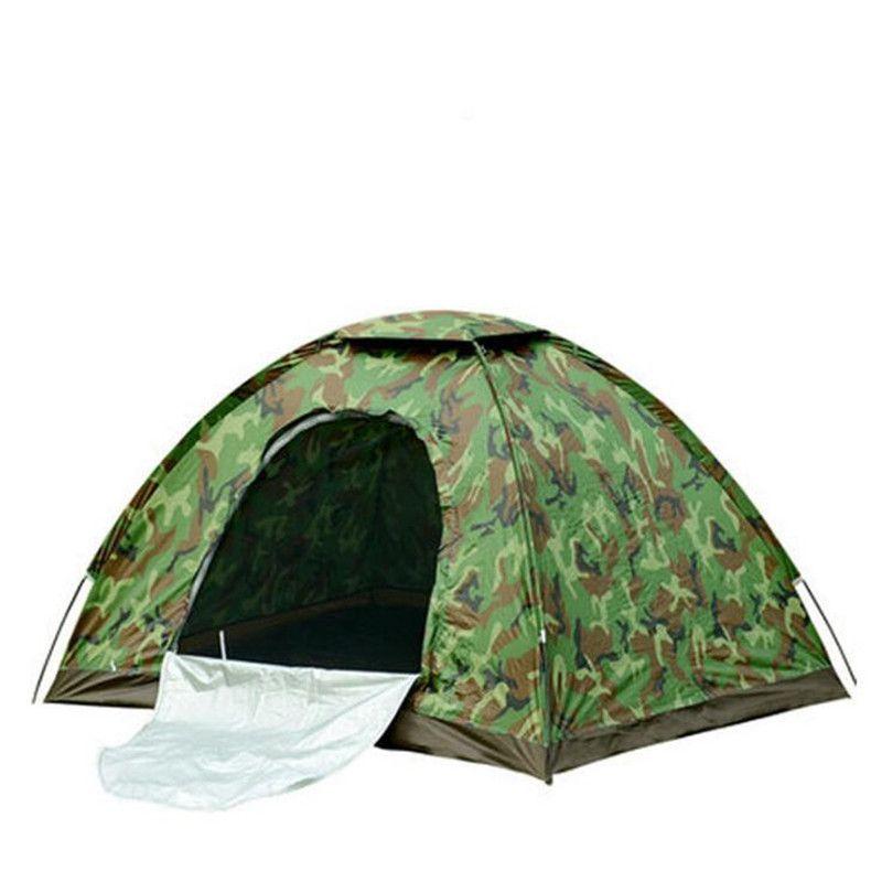 4 Person Tarnung Camping Zelt 200x200x130 cm Außen Camp Falten Wandern Tenda Single layer strand tente bivvy tourist zelte