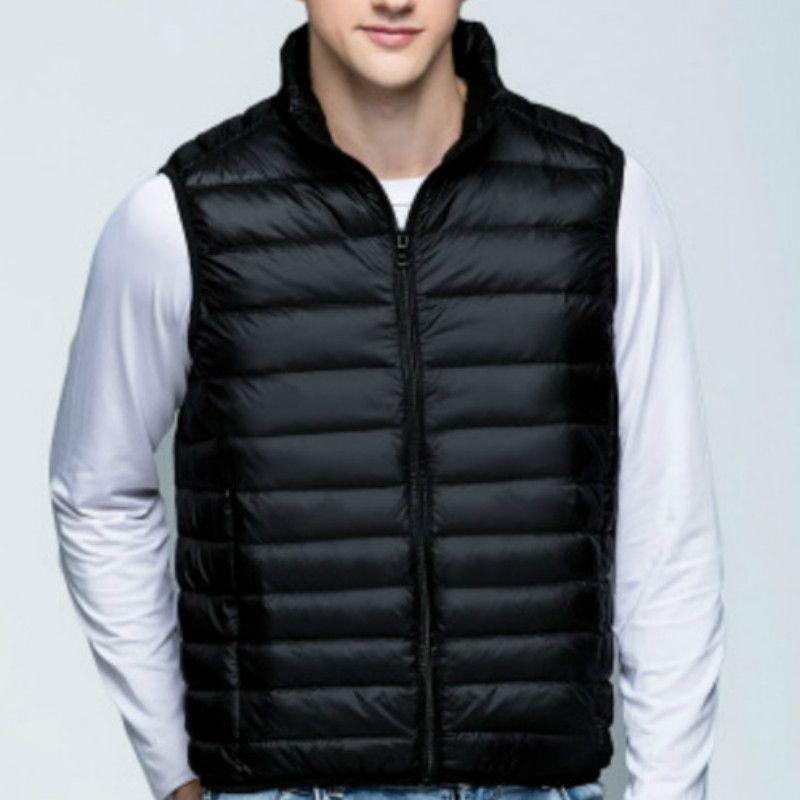 BONJEAN Marke neue 2017 winter daunenweste männer stehen kragen ultraleicht sleeveless jacke weste 90% weiße ente unten