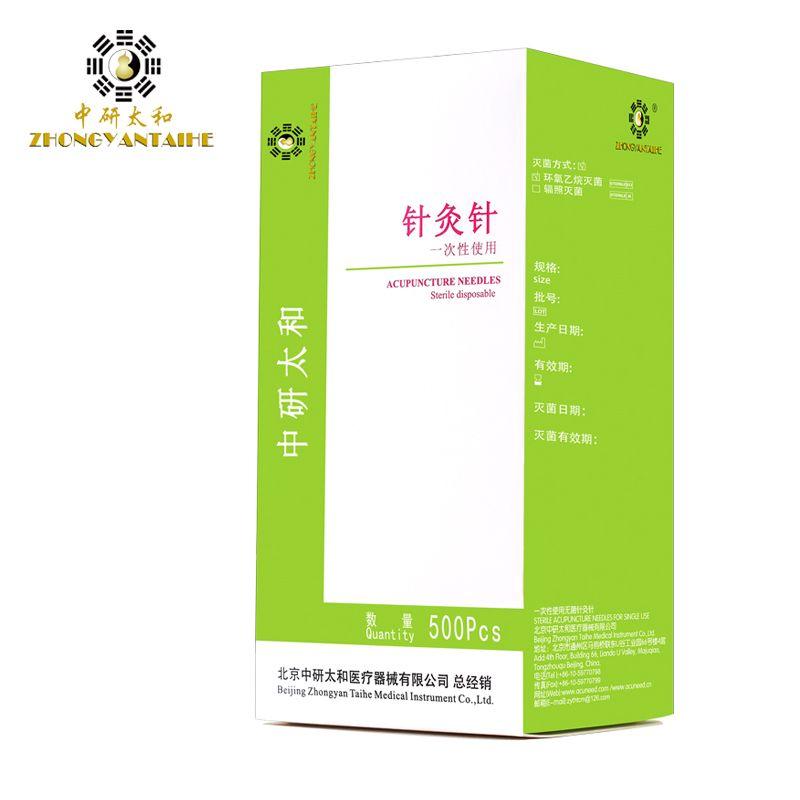 Livraison gratuite aiguille d'acupuncture 500 pièces aiguille stérile jetable avec tube masseur aiguilles d'acupuncture chinoises