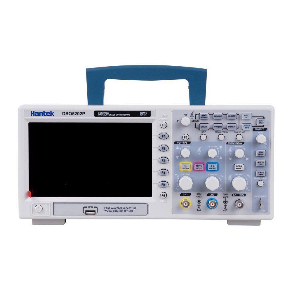 Hantek DSO5202P Digital Storage Oscilloscope 2CH 200MHz 1GSa/s Sample rate 40K Record Length USB PC Benchtop Scopemeter RU store