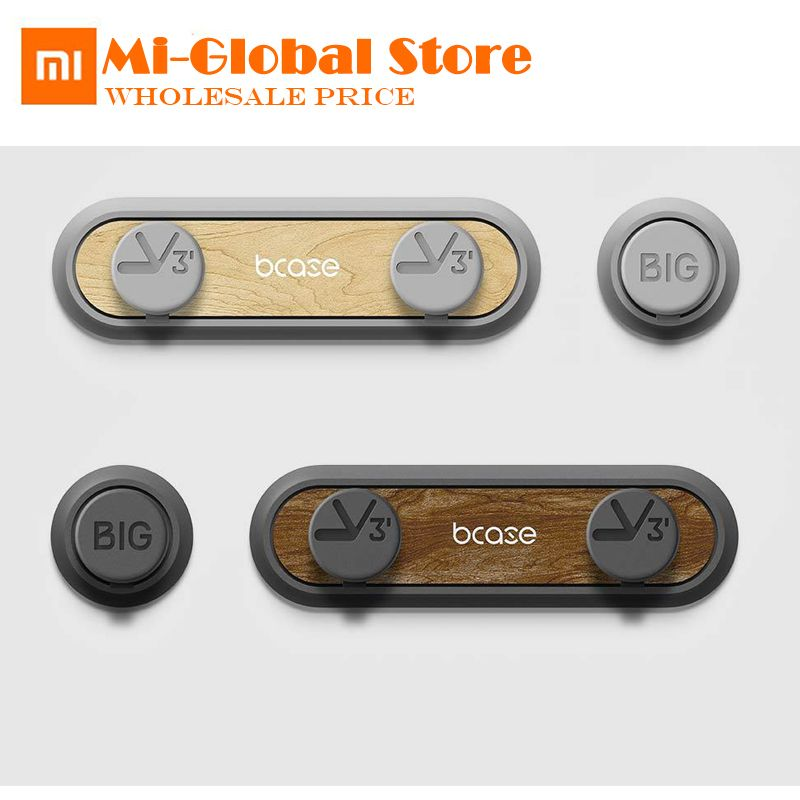 New Original XiaoMi TUP2 Magnetic Absorption Cable Clip High compatibility Practical magnetic base Wood texture for smart life