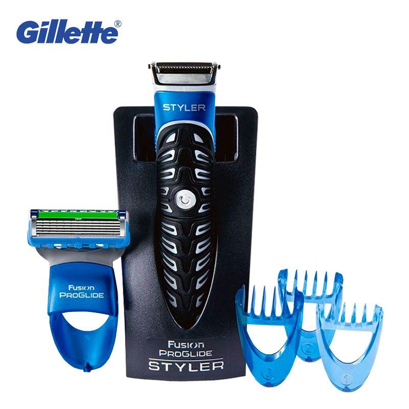 Gillette Styler 3 In 1 Power Electric Shaver Razor Beard Trimmer Edging Blade For Men Hair Shaving Styling Tool Waterproof 1pcs
