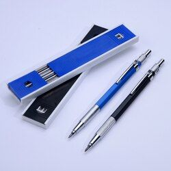 Best Promotion 2.0 mm 2B Lead Holder Metal Mechanical Drafting Drawing Pencil with 12PCs Leads