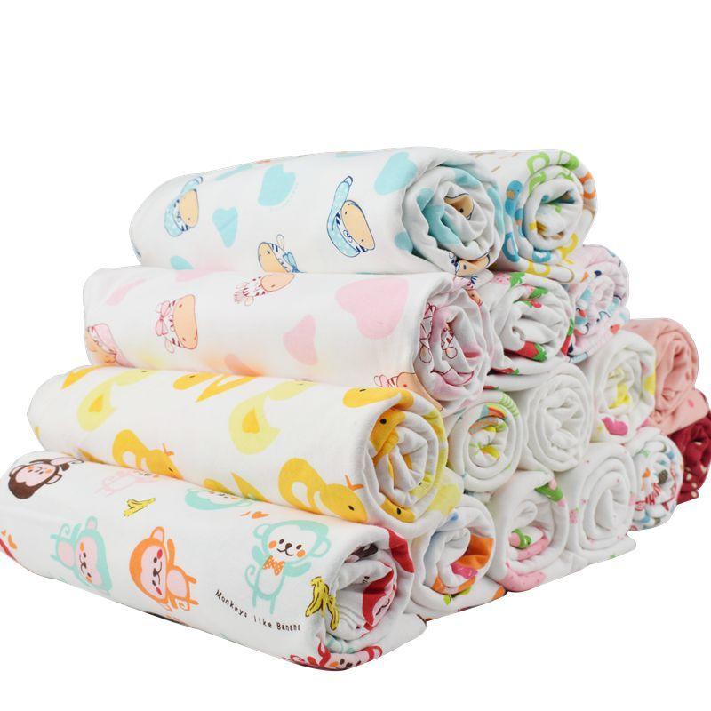 Nouveauté 50*180 cm extensible impression dessin animé bébé coton tricoté jersey tissu par demi-mètre bricolage bébé vêtements faisant tissu