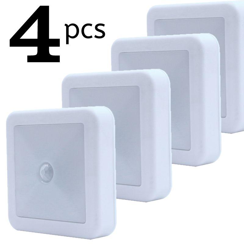 PIR capteur de mouvement veilleuse sans fil batterie mur LED lampe sous cuisine armoire placard lumière pour couloir salle de bain chambre