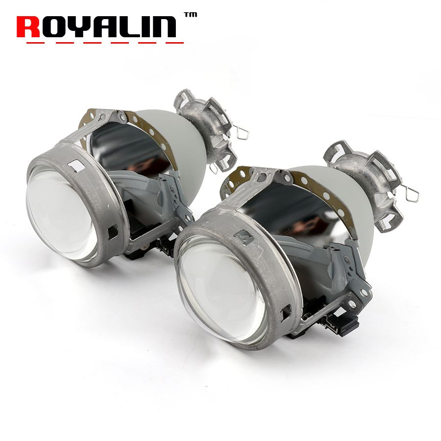 ROYALIN Full Metal E55 Projector Lens G2 3.0'' HID D2S Headlight Lens For BMW E65 Audi A6 C5 A6L S6 W209 219 251 212 R171 ML320
