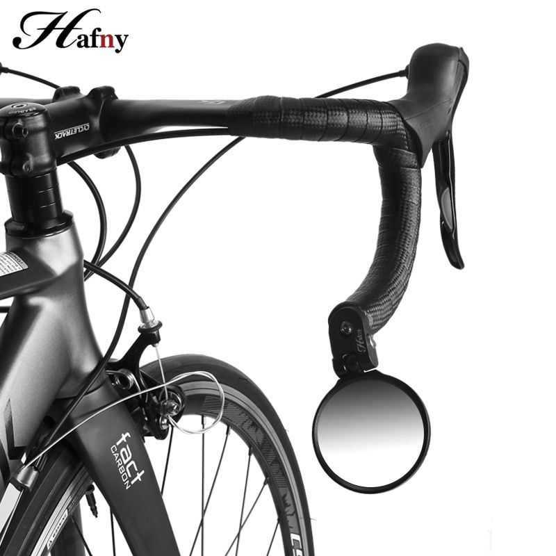 Handlebar End Bike Mirror Steel Lens Cycling Mirror Back Review Mirror For Bicycle Mountain Road Bike Mirror Bicycle Accessories