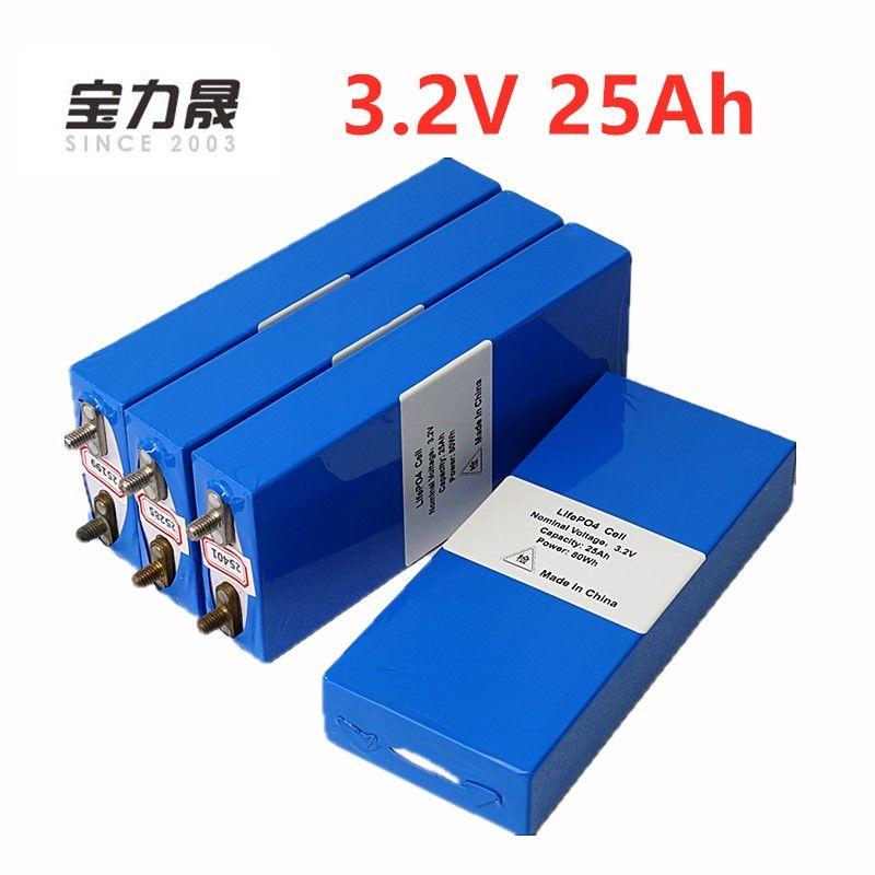 4 PCS 3,2 v 26ah LiFePo4 batterie wiederaufladbare li polymer zelle für 12V25AH batterie pack e-bike 3C 75a konverter HID solar licht