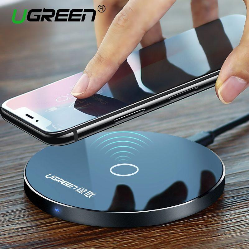 [Qi Sans Fil Chargeur 10 W], Ugreen D'origine Chargeur Sans Fil pour iPhone 8/X De Charge Pad pour Samsung Galaxy S8 Bord Plus De Charge