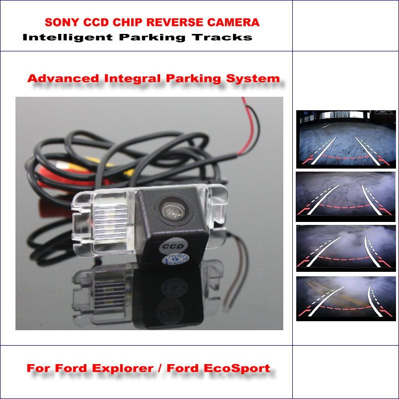 Backup Rear Reverse Camera For Ford Explorer U502 / Ford EcoSport / HD 860 Pixels 580 TV Lines Intelligent Parking Tracks