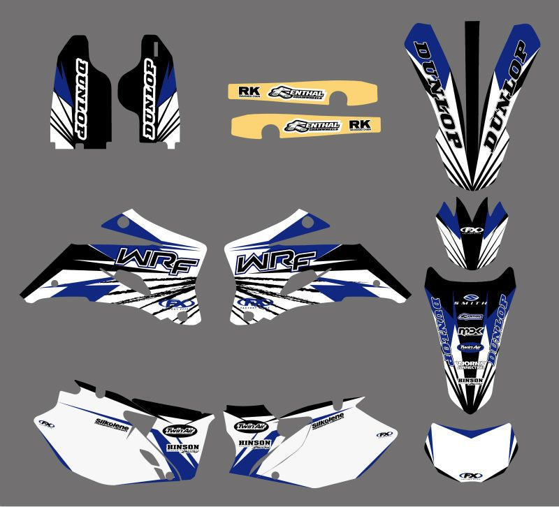 GRAPHICS & BACKGROUNDS DECALS STICKERS Kits For Yamaha WR250F WR450F 2007 2008 2009 2010 2011 WR 250F 450F WR 250 450 F