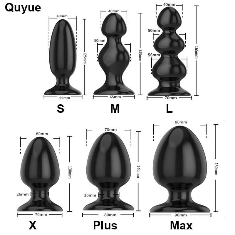 Quyue 6 Types Dilatador Anal perles Silicone godemichet Anal Gay sextoy adulte sex toys pour homme/femme Prostata massage Buttplug gode