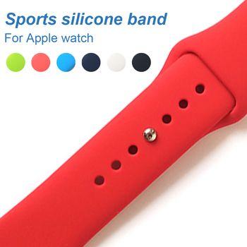Coloré En Silicone Souple Remplacement Sport Bande Pour Apple Montre Series123 38mm 42mm Bracelet en poignet Pour iWatch Sport édition