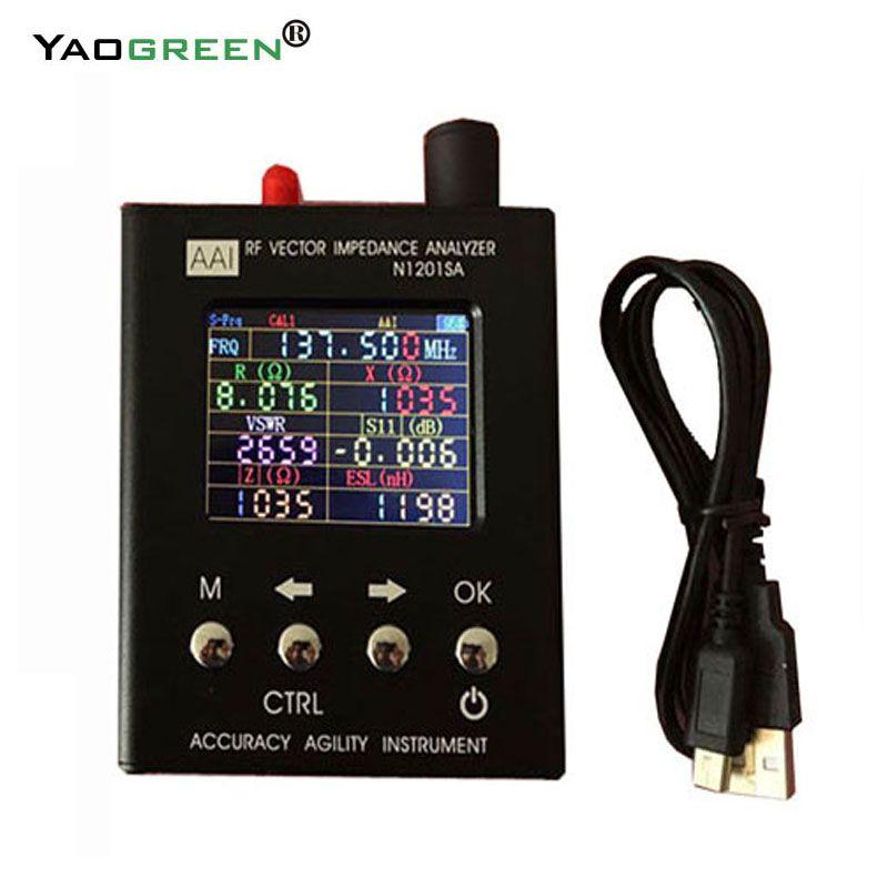 2.4TFT trdp English verison N1201SA 140MHz-2.7GHz UV RF Vector Impedance ANT SWR Antenna Analyzer Tester 140MHz - 2.7GHz D1-005