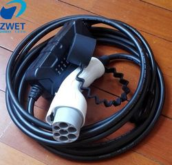 ZWET GBT18487-2015/ EVSE ELECTRIC CAR CHARGER  AC220V 16A GBT 20234-2015 plug Type 2 charger with GB wall socket input