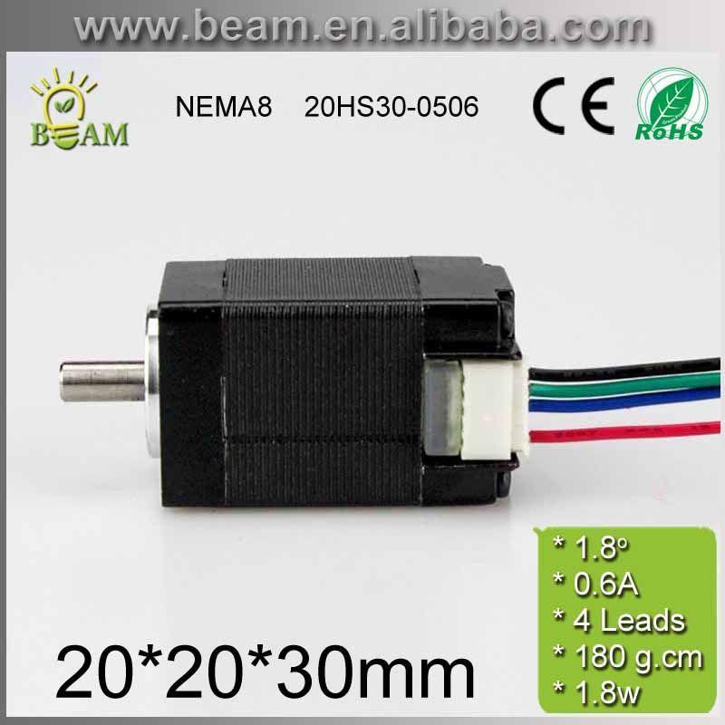 NEMA8 20*20*30mm 0.6A 180g.cm 2 phase small Hybrid step motor for 3D printer or monitoring equipment / low torque stepper motor