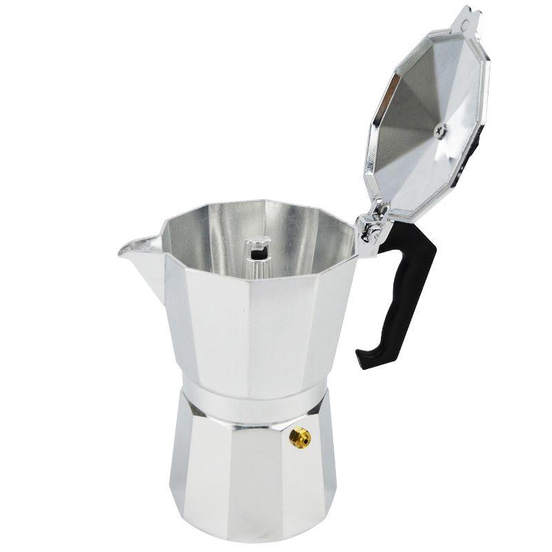 New Espresso Coffee Pots 3/6/12 Cups Maker Moka Espresso Cup Aluminum Moka Pot