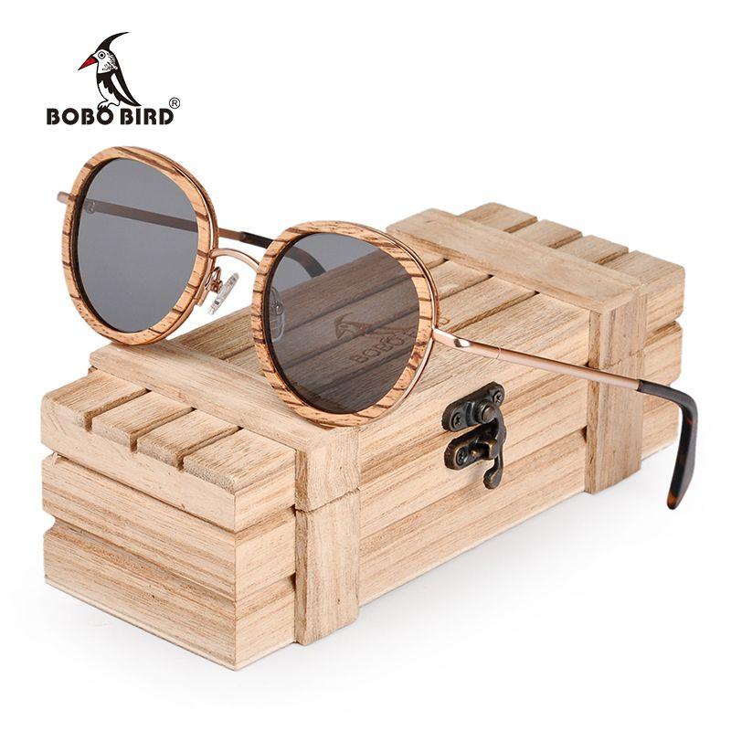 BOBO BIRD dropshipping Polarized Sunglasses Women Fashion Wood Frame Retro Vintage Men Glasses UV400 lunette de soleil femme