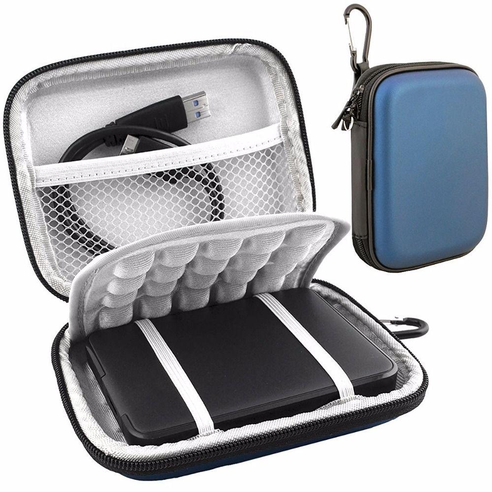 2.5 sac de transport antichoc pour disque dur externe pour WD My passeport Ultra mince essentiel WD Elements SE 500 GB 1 to 2 to