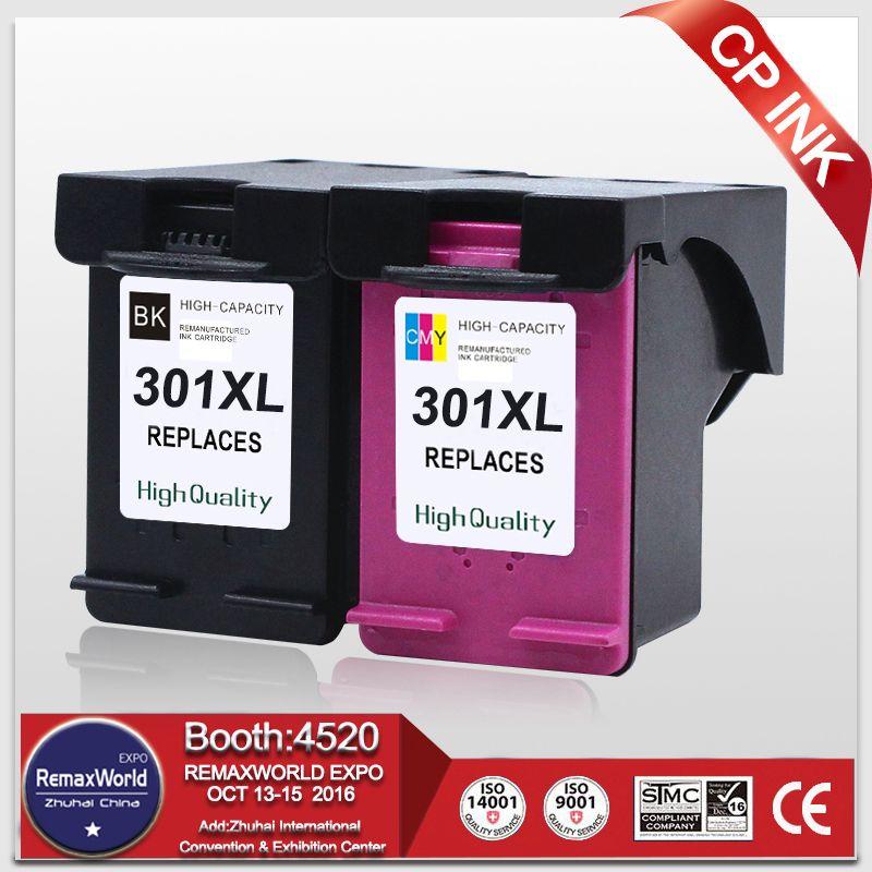 2PK qualité supérieure pour HP 301 301XL CH563EE CH564EE D'encre cartouche pour HP Deskjet 1000 1050 2000 2050 3000 3050 3050se 1050A 2050A
