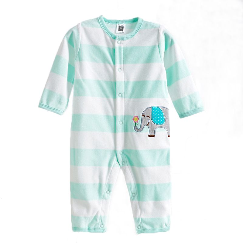 0-12M Autumn Fleece Baby Rompers Cute Pink Baby Girl Boy Clothing Infant Baby Girl Clothes Jumpsuits Footed Coverall GL001740695