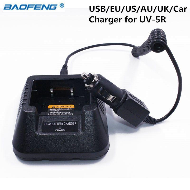 Baofeng UV-5R USB/EU/US/AU/UK/Voiture Chargeur de Batterie Pour Baofeng UV-5R UV-5RE DM-5R Plus Talkie Walkie UV5R Jambon Radio UV 5R