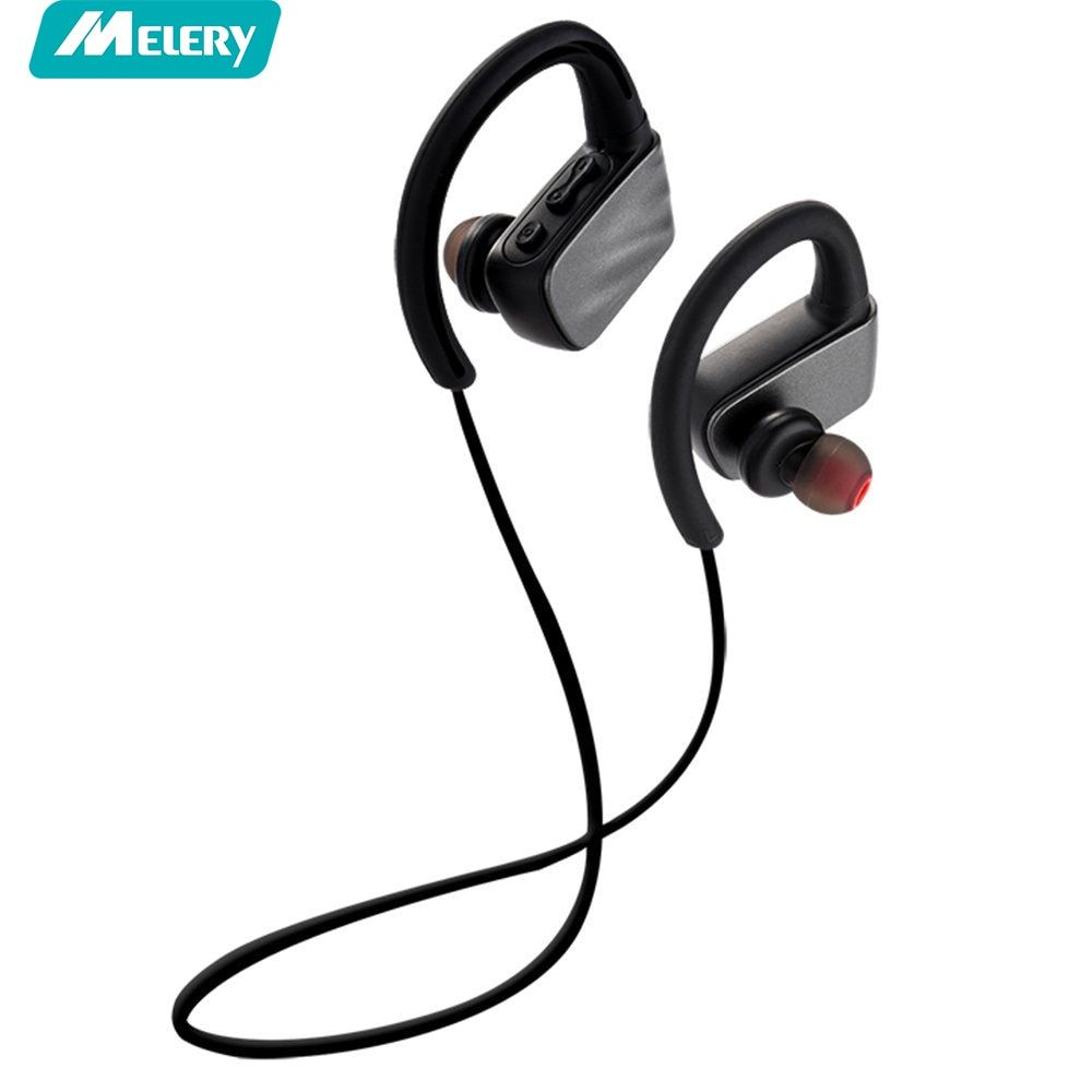 U2 Bluetooth4.1 Sport Headphone Ipx7 Waterproof in-Ear Noise Cancelling Black Earbuds With Microphone For iphone Andriod PC