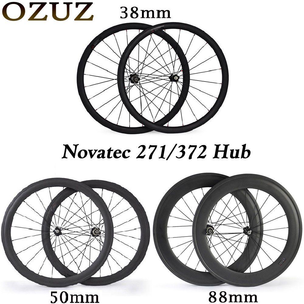 Novatec hub carbon laufradsatz 38 50 88mm rennrad 700c laufradsatz klammer tubular 3 k glänzend fahrrad räder 23mm standard räder