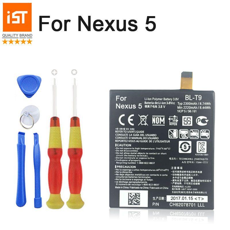 100% IST D'origine Batterie de Téléphone portable Pour LG Nexus 5 E980 G D820 D821 BL-T9 BLT9 Batterie De Remplacement Avec Des Outils
