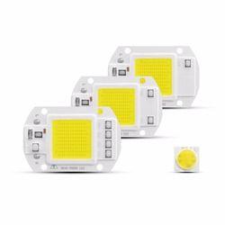 Pintar IC LED COB Chip AC 220 V 3 W 5 W 7 W 9 W 20 W 30 W 50 W DIPIMPIN Lampu Penutup Lensa Mencerminkan DIY Untuk LED Cahaya Lampu Sorot Bulb