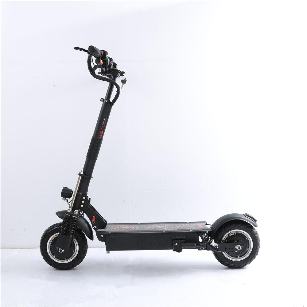 UBGO 1005 + Vakuum Reifen Motor 60 V/52 V Doppel Stick 2000 W motor leistungsstarke elektrische roller 10 zoll E-Roller mit Öl Bremse