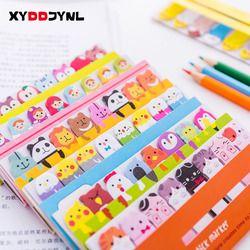 1 pcs Kawaii Papeterie Signets Creative Animal Mignon Sticky Notes Post-It Bloc-Notes Fournitures Scolaires Papier Autocollants