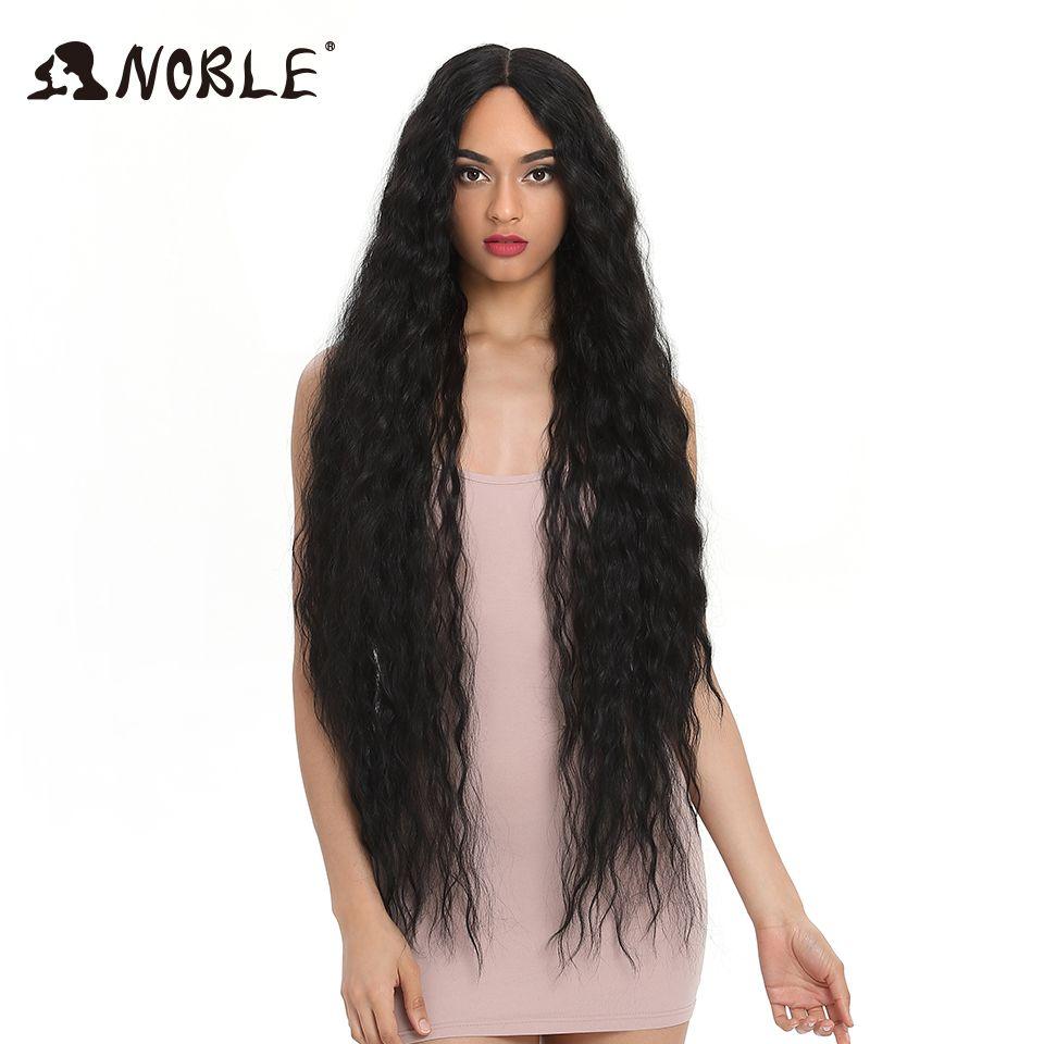 Cheveux nobles perruques synthétiques pour femmes noires cheveux longs bouclés 42 pouces Cosplay Blonde Ombre dentelle avant perruque synthétique dentelle avant perruque