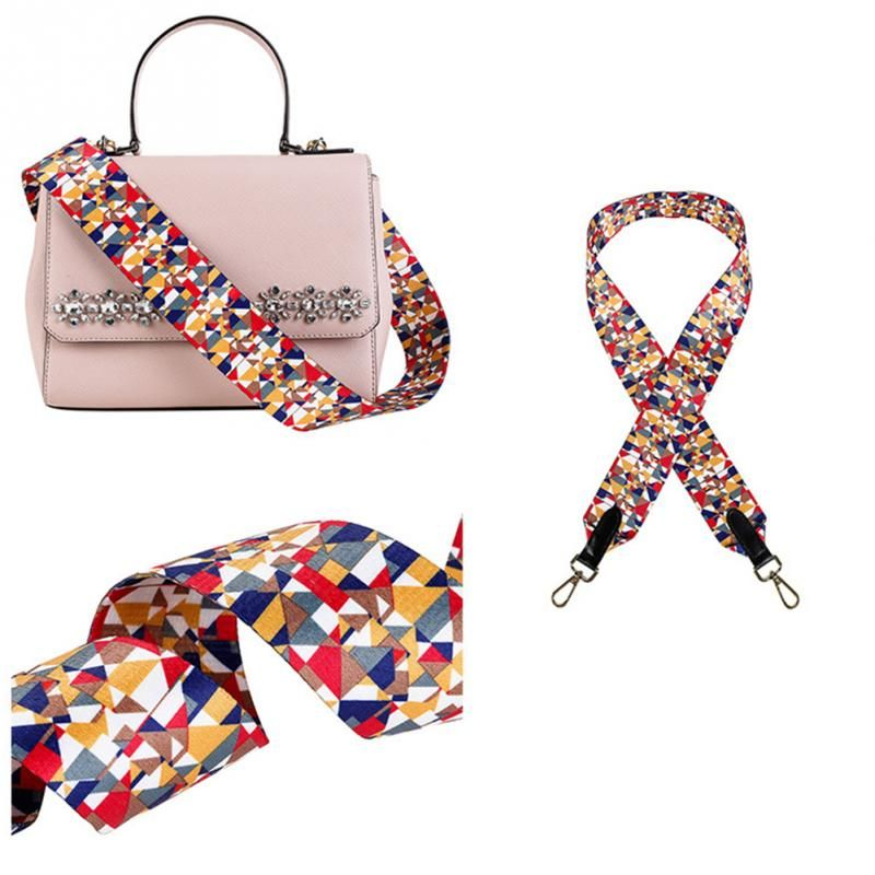 Fashion Women Luggage accessories shoulder Strap Crossbody Shoulder strap Canvas printing national wind bag shoulder strap