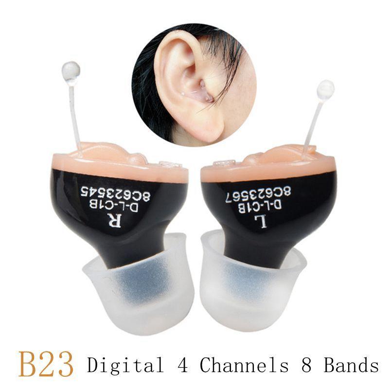 CIC Digital 4 canaux 8 bandes aide auditive Mini amplificateur sonore réglable dans l'oreille Portable Invisible prothèses auditives batterie A10