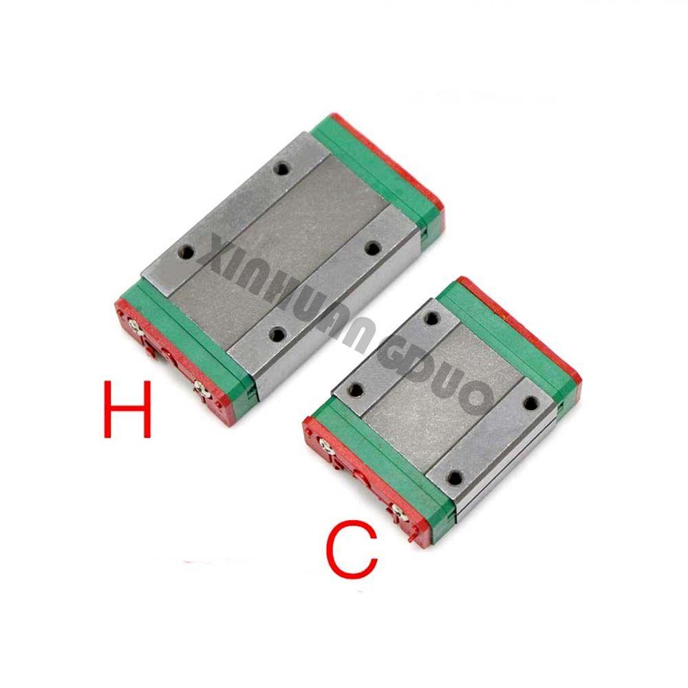 MGN9H MGN9C MGN12H MGN12C MGN15H MGN15C MGN7H MGN7C de bloc de chariot pour MGN9 MGN12 MGN15 guide linéaire pour 3d imprimante CNC pièces
