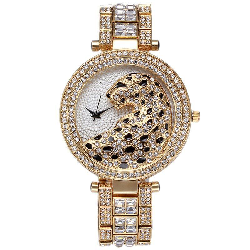 2017 animal Sexy lades watch Women's Watches Top Brand Luxury Casual Quartz Fashion Dress tt watch Diamond Leopard Ladies Clock