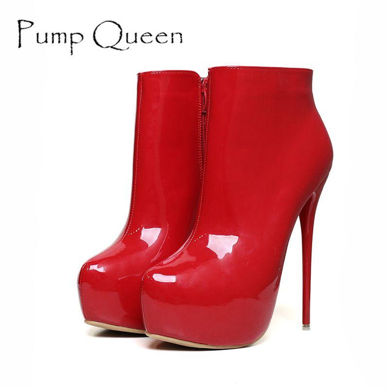 Mode Femmes Escarpins Hauteur Plate-Forme Super Hauts Talons Chaussures 16 cm Pompes Sexy Discothèque Fête Rouge Noir Blanc Plus La Taille 41-45