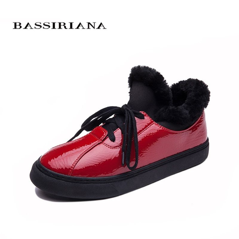 BASSIRIANA - Winter Woman boots Shoes Plush Lady's Trend Cotton-padded Shoes Auto Lady Warm Shoes Women