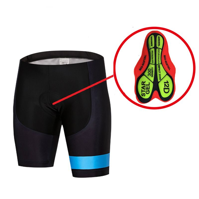Men Women 12D Padded Biking Bicycle Cycling Short Short Tights Comfortable Breathable Underwear Bicycle Shorts Clothes 5-Colors