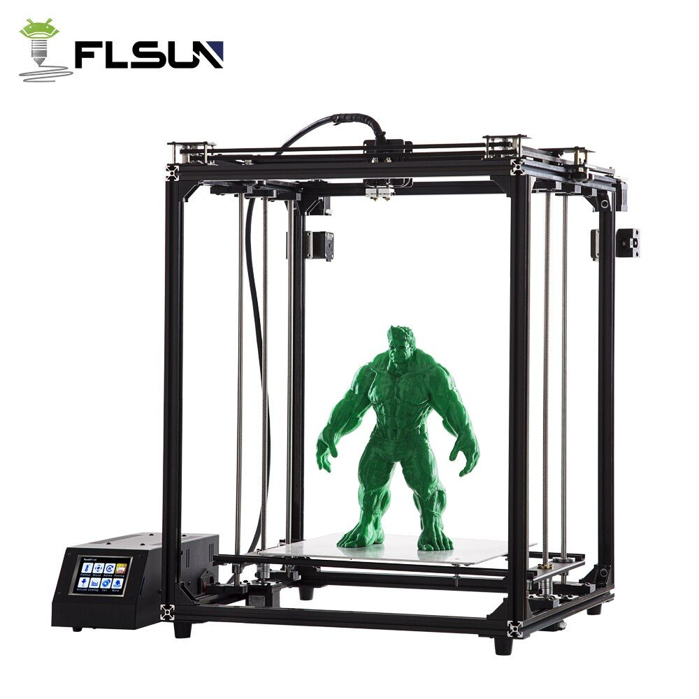 2018 New Design Pre-sale Flsun 3D Printer Large Printing Area 320*320*460mm Super Hot Bed SD card