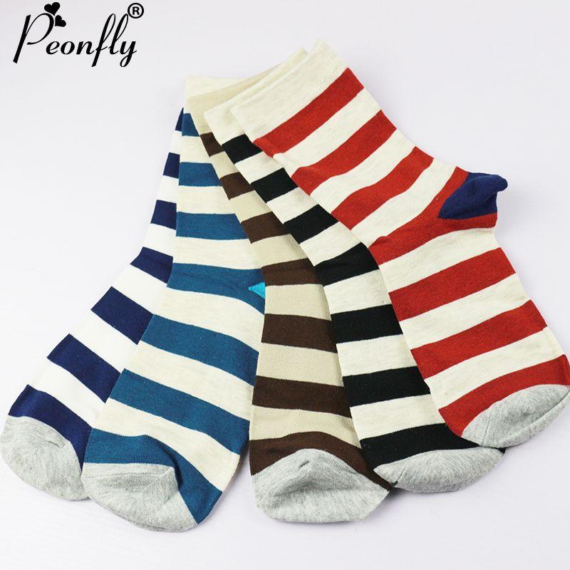 PEONFLY venta marca invierno de los hombres Calcetines de los hombres masculinos feliz caliente calcetines de algodón calcetines de rayas calcetines meia hombres Colorida Serie meias