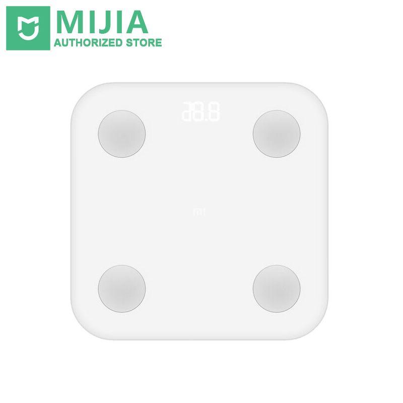 Xiaomi Mi Smart Body Fat Échelle 2 XMTZC02HM Mifit APP La Composition corporelle Moniteur Avec Affichage LED Cachée Et Grands Pieds Pad