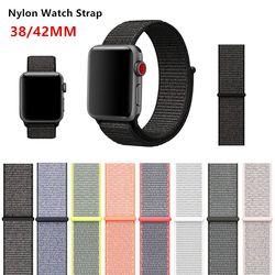 Relógio do esporte Banda Alça de Pulso Para Apple 3 38mm 42mm Série 3 2 1 Tecido Nylon Olive Pulseira Cinta iWatch Originais Fácil ajuste