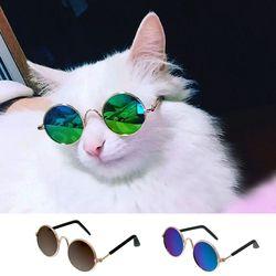 Moda Olho de Gato Óculos De Sol Óculos de Acessórios Para Animais de Estimação Cães Gatos Verão Grooming-desgaste Preto Verde