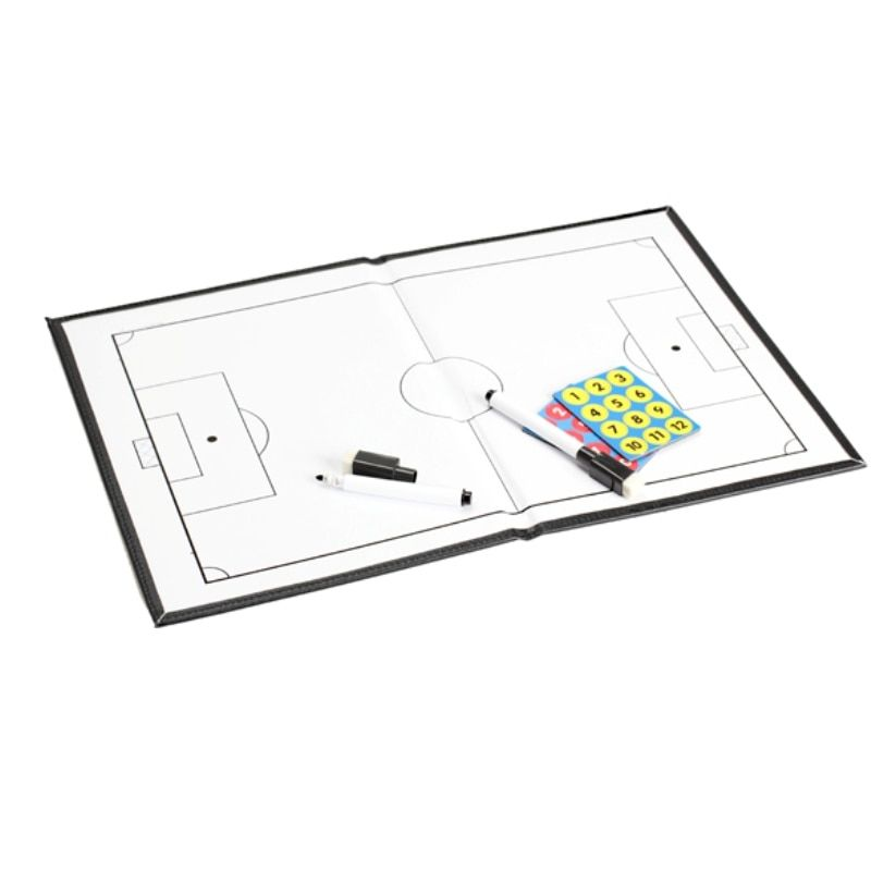 Soccer Tactics Board Football Soccer Coach Match Training Tactical Plate Coaching Board Kits with 2 Marker 26 Magnet Buttons