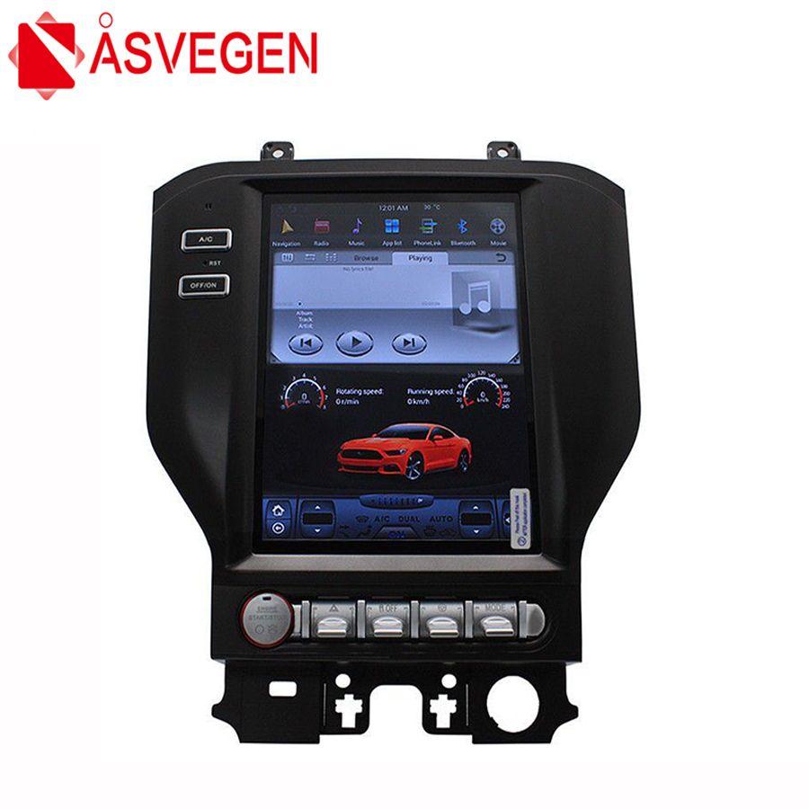 Asvegen 10.4 inch Vertical Screen Android Car Radio For Ford Mustang 2015-2017 GPS 4G WIFI BT Dvd player Stereo Navi Multimedia